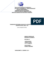 TENDENCIAS EPISTEMOLÓGICAS DE LA INVESTIGACION CIENTIFICA EN EL SIGLO XXI