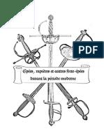 Épées,Rapières Et Autres Forte-épées Durant La Période Moderne