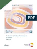 Indicador sintético de servicios públicos. Enero 2021. INDEC.