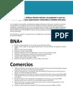 Recomendaciones COVID Banco Nación