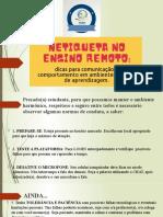NETIQUETA NO ENSINO REMOTO