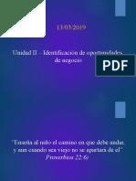 Unidad II - Identificación de Oportundiades de Negocio
