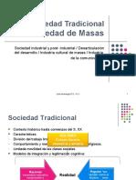 Teoría de la Comunicación - de Sociedad Tradicional a Sociedad de Masas