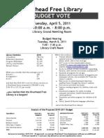 Riverhead Free Library Budget 2011