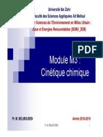 Cours M3 cinétique chimique