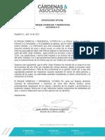 Comunicado Parque Comercial y Residencial Victoria 140421