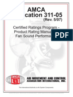 AMCA+311-05 - Certified Ratings Program Product Rating Manual for Fan Sound Performance