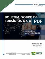 Boletim de Subsídios Da União. Edição 19 - Lei Do Bem