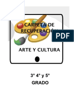 CARPETA DE RECUPERACION  3° 4° 5° GRADO ARTE Y CULTURA