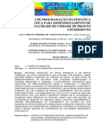 USO DE PROGRAMAÇÃO MATEMÁTICA ESTOCÁSTICA PARA DIMENSIONAMENTO DE CAPACIDADE DE UNIDADE DE PRONTO ATENDIMENTO