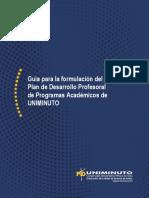 Guía para la formulación del Plan de Desarrollo Profesoral de Programas UNIMINUTO Colombia
