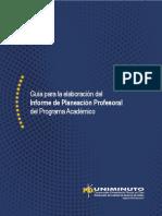 Guía del Informe de Planeación Profesoral del Programa Académico UNIMINUTO Colombia