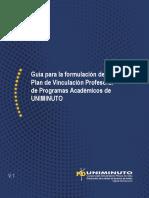 Guía para la Formulación del Plan de Vinculación Profesoral Programas Académicos UNIMINUTO Colombia