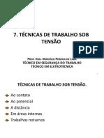 Nr10 Sep Técnicas de Trabalho Sob Tensão (Aula 9)