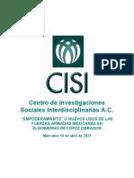"""ESPECIAL """"EMPODERAMIENTO"""" O NUEVOS USOS DE LAS FUERZAS ARMADAS MEXICANAS EN ELGOBIERNO DE LÓPEZ OBRADOR 210414"""