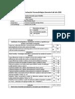 Informe de Evaluación Fonoaudiológica Semestral del año 2020