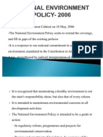 NATIONAL ENVIRONMENT POLICY