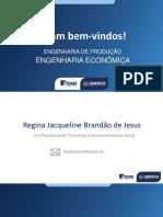 Planejamento Aula 1 ENG ECONOMICA 2020.2