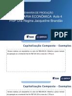 Planejamento Aula 4 ENG ECONOMICA 2020.2