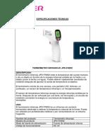 ESPECIFICACION TECNICA JPD-FR202 JUMPER