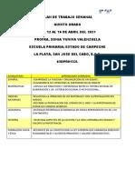 PLAN DE TRABAJO A DISTANCIA 12-16 DE ABRIL