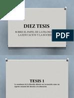 Diez Tesis de La Filosofia (Version Extendida)