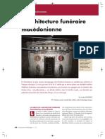 L Architecture Funeraire Macedonienne Do