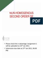 Homogenouse 2nd order DE