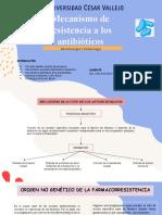 Mecanismo de resistencia a los antibióticos