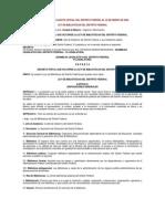 LEY DE BIBLIOTECAS DEL DISTRITO FEDERAL