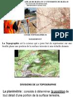 Résumé Du Cours de Topographie 01 en Document Diapositif.