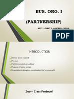 Partnership Class AY 2020 2021 2nd Sem