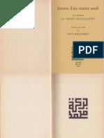 T. Burckhardt - Lettres d_un Maître Soufi