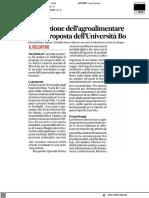 Innovazione dell'Agroalimentare, la proposta dell'Università di Urbino - Il Corriere Adriatico del 14 aprile 2021