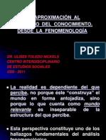 Una Aproximación al fenómeno del conocieminto desde la fenomenología-Ulises Toledo