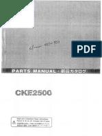 CKE2500 - Parts Manual