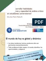 Cómo desarrollar las habilidades comunicativas y la capacidad de análisis crítico de la información en estudiantes universitarios-Ana Maria Molina