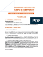 Programme communication