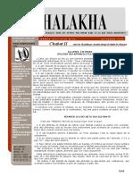 HALAKHA N° 25 chabat II