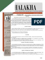 HALAKHA N° 26 chabat III