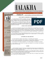 HALAKHA N° 27 chabat IV