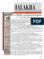 HALAKHA N° 28 chabat V