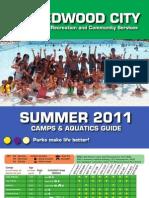 Redwood City Summer 2011 Camps & Aquatics Guide