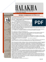 HALAKHA N° 90 Enseignments du Pirkei avot
