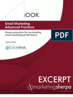 2011 Email Marketing Advanced Practices Handbook - Excerpt