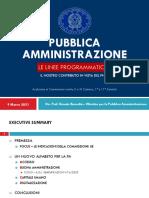 Pubblica Amministrazione - Le Linee Programmatiche Def