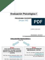 Evaluación Psicológica I_BloqueI_Presentación