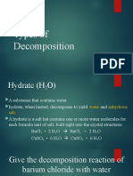 Types of Decomposition Reaction