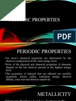 Periodic Properties