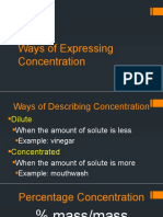 6. Ways of Expressing Concentration